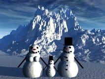 Sneeuwman 17 Stock Foto's