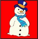 Sneeuwman #2 stock foto's