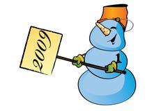 Sneeuwman 2009 Stock Afbeeldingen