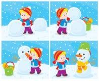 Sneeuwman vector illustratie