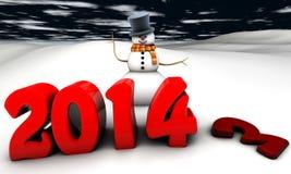 Sneeuwman 2014 Stock Foto's