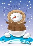 Sneeuwman Stock Foto