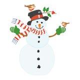 Sneeuwman. royalty-vrije illustratie