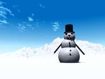 Sneeuwman 8 Stock Afbeelding
