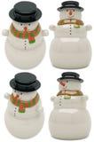 Sneeuwman ceramisch stuk speelgoed Royalty-vrije Stock Foto