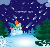 Sneeuwman D Stock Afbeelding