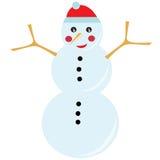 Sneeuwman in de winter Stock Fotografie