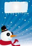 Sneeuwman in de winter Stock Foto