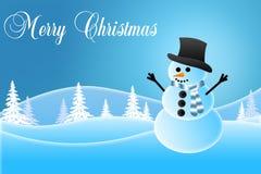 Sneeuwman die een Hoed dragen Royalty-vrije Stock Afbeelding