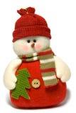 Sneeuwman die op een witte achtergrond wordt geïsoleerd Royalty-vrije Stock Foto