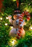 Sneeuwman en een lolly Stock Fotografie