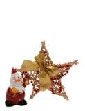 Sneeuwman en een ster Stock Foto
