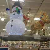 Sneeuwman en rendierdecoratie Stock Afbeeldingen