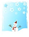 Sneeuwman en sneeuw stock illustratie