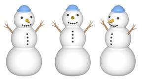 Sneeuwman (geef terug) Stock Afbeeldingen