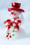 Sneeuwman golvende hand Royalty-vrije Stock Afbeeldingen