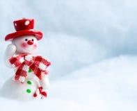 Sneeuwman golvende hand Stock Afbeelding
