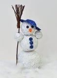 Sneeuwman - houwerfolie en wol Royalty-vrije Stock Afbeeldingen