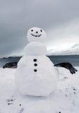 Sneeuwman in IJsland Royalty-vrije Stock Fotografie