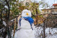 Sneeuwman in Jeruzalem royalty-vrije stock afbeelding