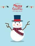 Sneeuwman (Kerstmiskarakters) Royalty-vrije Stock Fotografie