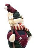 Sneeuwman met bezem Royalty-vrije Stock Fotografie