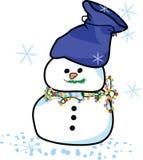Sneeuwman met magische zak Royalty-vrije Stock Fotografie