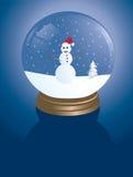 Sneeuwman snowglobe royalty-vrije stock afbeelding