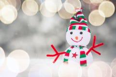 Sneeuwman Toy Family royalty-vrije stock afbeeldingen