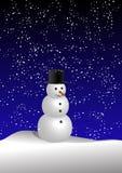 Sneeuwman (vector) stock illustratie