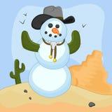 Sneeuwman Vectorconcept royalty-vrije illustratie