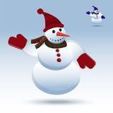 Sneeuwman Vectorillustratie Royalty-vrije Stock Fotografie