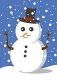 Sneeuwman voor mas van X ` royalty-vrije illustratie