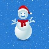 Sneeuwman voor uw Kerstmisviering stock illustratie