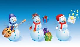Sneeuwmannen. Royalty-vrije Stock Afbeeldingen