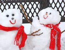 Sneeuwmannen Royalty-vrije Stock Foto