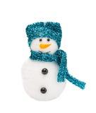 Sneeuwmannen met turkooise hoed Stock Foto's