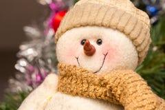 Sneeuwmanpluche Royalty-vrije Stock Foto