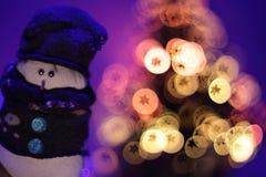 Sneeuwmanstuk speelgoed stock foto