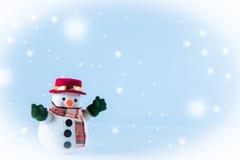Sneeuwmantribune op witte achtergrond Stock Foto