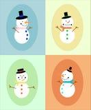 Sneeuwmanvertoning Royalty-vrije Stock Afbeeldingen