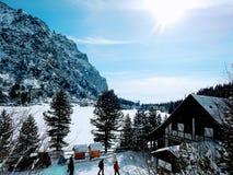 Sneeuwmeer royalty-vrije stock afbeeldingen