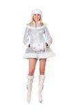 Sneeuwmeisje. Geïsoleerd royalty-vrije stock foto's