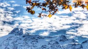 sneeuwmountum Stock Foto