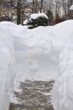 Sneeuwmuur Stock Afbeeldingen