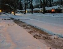 SNEEUWnacht Michigan Madison Heights stock foto's