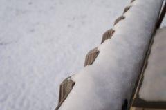 Sneeuwomheiningspost Royalty-vrije Stock Afbeeldingen