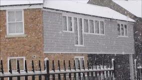 Sneeuwonweer in whitstable stad Kent stock videobeelden