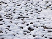 Sneeuwpatronen op asfalt Royalty-vrije Stock Foto's