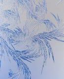 Sneeuwpatronen op glas als abstracte achtergrond royalty-vrije illustratie